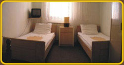 Double bed room with bathroom